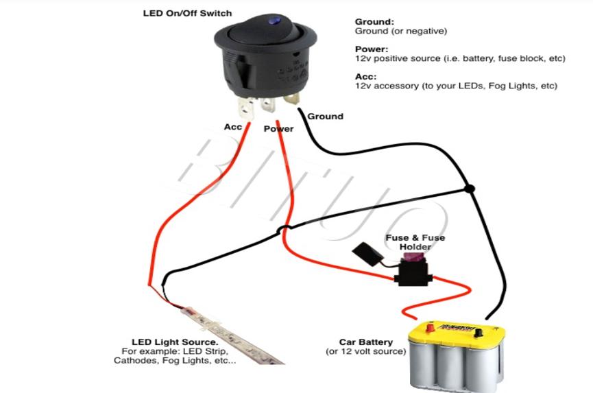 Rocker Switch Professional, Light Up Rocker Switch Wiring